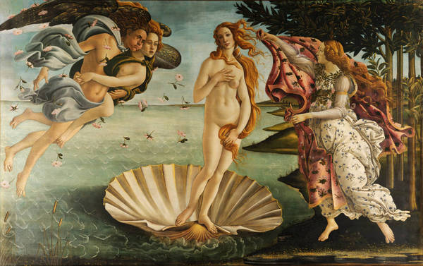 Or maybe she came surfing on a seashell and went by the name Venus? It depends on who you believe. Botticelli, in this case.
