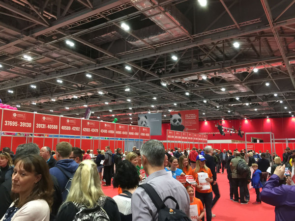 Biggest marathon expo I've ever been to. Fun things to check out for Julie!