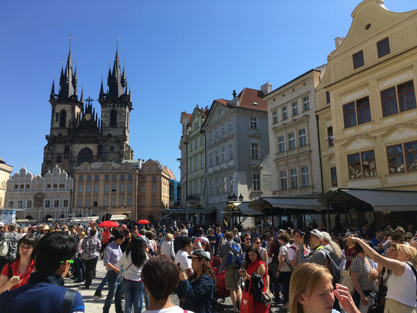 Crowded Old Town Square
