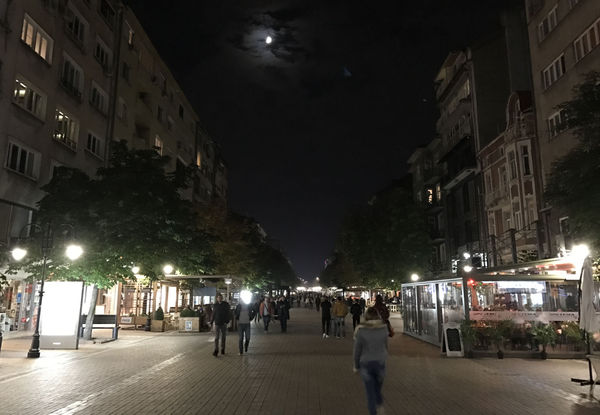 Vitosha Boulevard at night