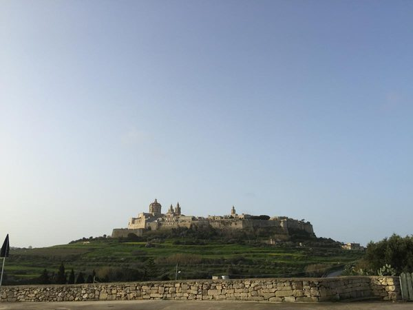 Right out of Mdina we could see the old city fortress on that hill